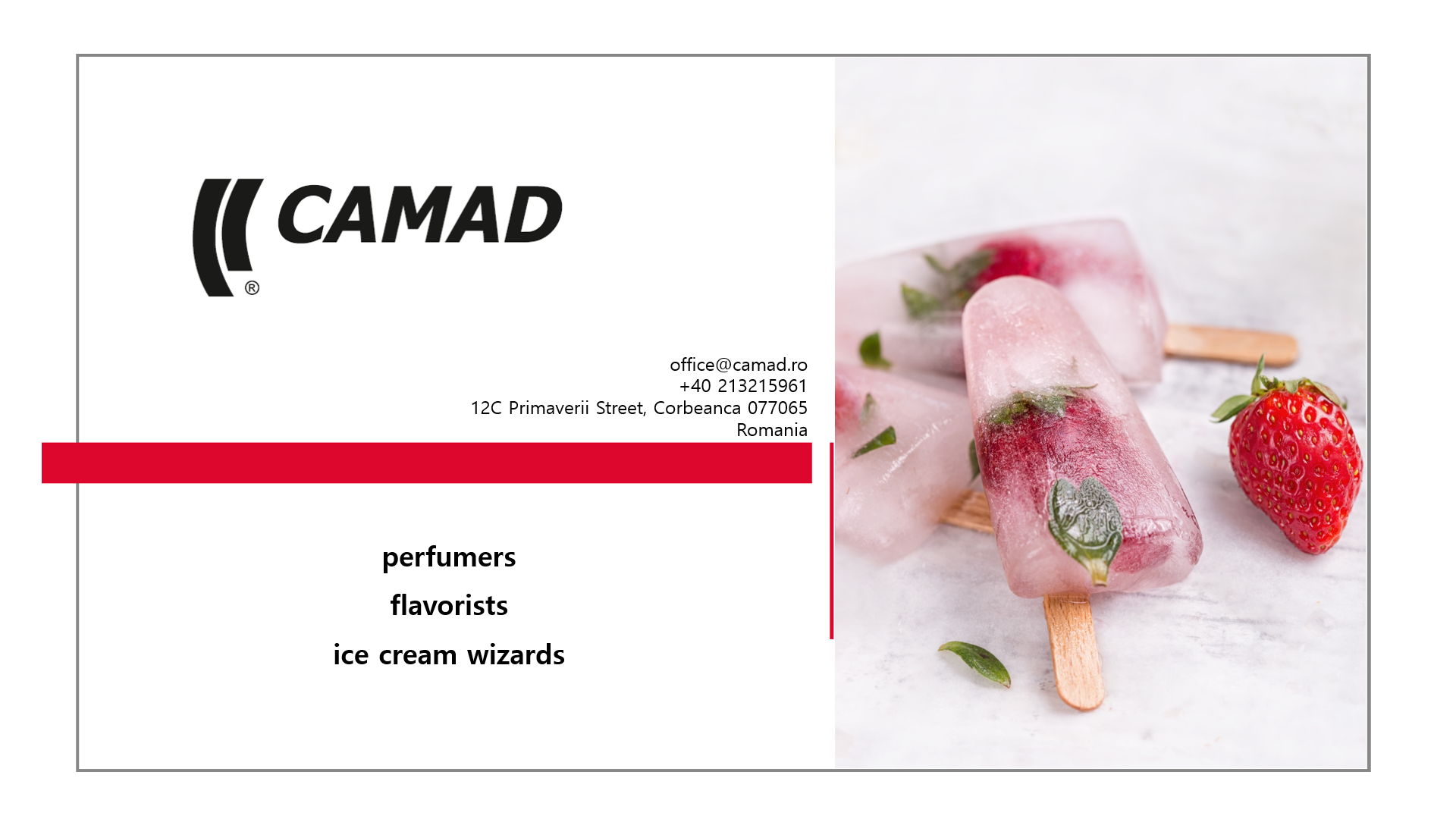 Camad Flavors - +40 21 321 59 61